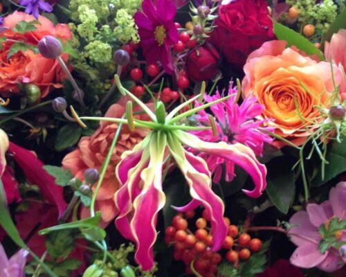 Uitvaartbloemen. Bloemen van Julian
