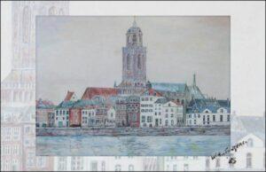 uitvaart in Deventer Zicht op Deventer, zelf getekend