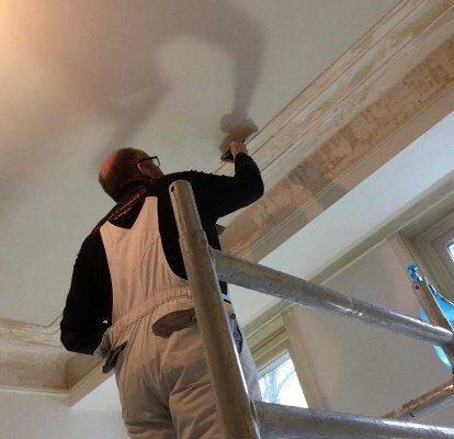 restauratie van een plafond